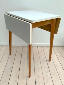 Vintage Mid Century white/grey folding Formica table