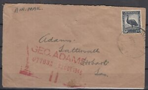 DB7923/ BRITISH NEW GUINEA – AUSTRALIA SG # 208 ON RED CROSS AIRMAIL COVER