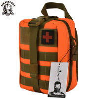Tactical First Aid Kit Survival Molle Rip-Away EMT Pouch Bag Medical orange