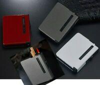 metal Cigarette Case 12PCS capacity Storage hold Box With fuel Lighter 2 in one