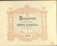 Anton Diabelli ~ Sonaten für Pianoforte zu 4 Händen ~ gebunden
