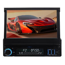 "7"" INCH Touch Screen Universal Single 1 DIN Car DVD Stereo Player BT Receiver"