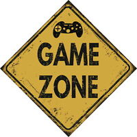 Keep out gamer at work Door sign aluminium XB PS PC Games Christmas 15 x 10cm