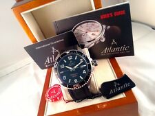 NUOVO Atlantic Worldmaster Diver Gent's Watch Zaffiro/20ATM 55370.47.65SPU