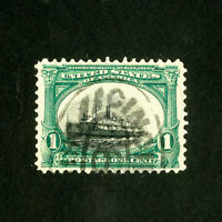 US Stamps # 294 VF Sinking ship vignette used