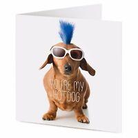 YOU'RE MY HOTDOG funny cool Dachshund sausage dog Birthday or Valentine card