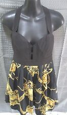 Knight Angels M Ladies Dress Gold and Black elasticated Back Strap dress.