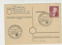 Germany 1953 D.dorf Int.Confectionary Trade Fair Slogan Cancel Stamp Card  29215