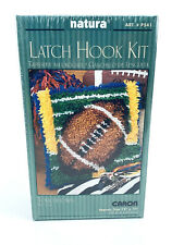 Caron Natura Football Rug latch Hook Kit Wall Hanging #P541 Sealed
