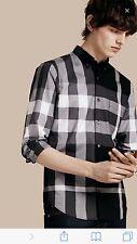 Burberry London Check Men's Casual Shirt Slim Fit  size Medium runs size Small