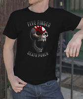 Five Finger Death Punch Men Black T-shirt Metal Band FFDP Rock Tee Shirt