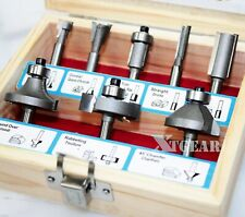 "1/4"" Woodworking Cutter Bits 9Pc Tugsten Carbide Router Bit Set w/ Case"