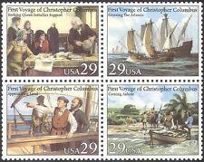 EE. UU. 1992 Columbus/barcos/Marino/exploradores/transporte/personas/Palmera Negro (n25449)