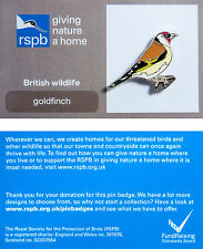 RSPB Pin Badge | Goldfinch | GNaH backing card [00216]