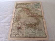 Vintage Italy The Map CENTURY DICTIONARY AND CYCLOPEDIA 1906 20127