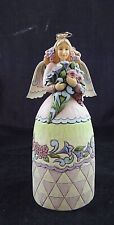 "Jim Shore Heartwood Creek Bouquet of Blessings 9.5""  Angel"