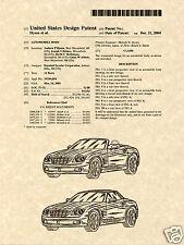 Chrysler Crossfire Roadster Charol Estampa ya a Marco 2004 Convertible