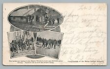 """""""Ladies in Maine Woods"""" Antique Hunting PC Log Cabin—Maine Central Railroad UDB"""