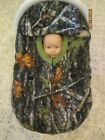 """True Timber Camouflage """"DOUBLE"""" fleece infant carrier cover to keep baby warm"""