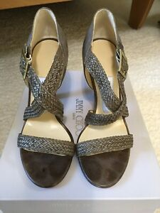 Jimmy Choo Olive Green Strappy heel sandals, 38.5