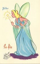 CARTE POSTALE CHOCOLAT TOBLER FANTAISIE ILLUSTRATEUR WALT DISNEY LA FEE