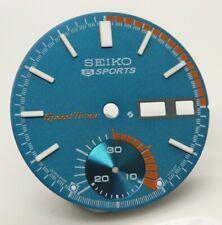 Dial Seiko 5 Sport Pogue 6139-6001 6139-6002 6139-6005 6007 6009 Speedtimer Blue