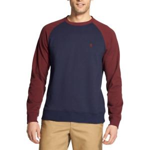 Izod Advantage Performance Stretch Mens Soft Fleece Crewneck Pullover Sweatshirt