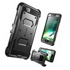 iPhone 7 Plus Case Armorbox i-Blason Built in Screen Protector Full Body Black
