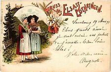 CPA  Gruss aus Elsass-Lothringen - Litho - Folklore - Types  (481536)