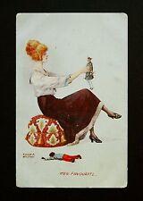 29 June 1915 WW1 Postcard Edgar A Holloway Glamour Dolls Nelson Burnley Lancs