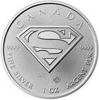 2016 1 Oz Silver $5 Canada SUPERMAN Coin.