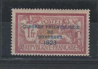FRANCOBOLLI 1923 FRANCIA 1 FR. CONGRESSO FILATELICO MLH Z/4101