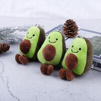 1PC 13cm Avocado Keychain Fruits Stuffed Plush Toy Doll Key ring  Child Toy Gift