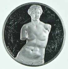 Sterling Silver - Treasures Of The Louvre - 925 - 40.5 Grams Round/Art Bar *023