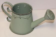 Mini Watering Can Rustic Green Tin-Lovely Usable Item or Home Decor accent