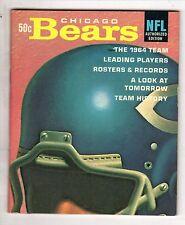 1964 NFL Chicago Bears Football magazine, Bill George, Doug Atkins, Mike Ditka