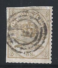Denmark Scott #14, Single 1868 FVF Used