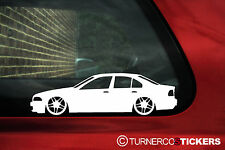 2x LOW BMW e39 5 series saloon Stickers Decals  with M Parallel wheels