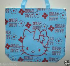 Draagtas Hello Kitty, blauw met print,  ritssluiting