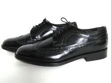 Nunn Bush Longwing Wingtips Black Leather Oxfords Dress Shoes Men's Size 10 M