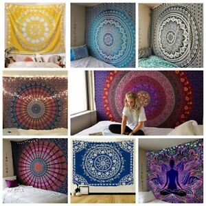 Large Indian Ombre Tapestry Wall Hanging Mandala Hippie Throw Yoga Beach Blanket