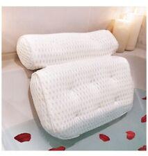 Entrancing Elegance Quick-Dry Spa Bath Pillow + Rose Petals. 8 Suction Cups. Bat