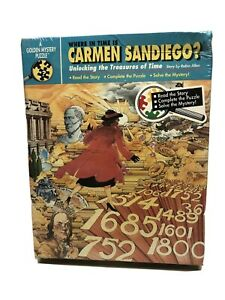 Where In Time is Carmen San Diego Unlocking Treasure Golden Mystery Puzzle