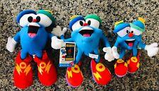 """Set Of 3 Graduated 1996 Atlanta Olympics Izzy Plush Mascots~10 3/4"""", 9"""" & 6"""""""