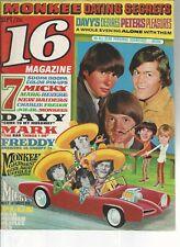 16 magazine  September  1967    Monkees  Freddy, Davy, Monkees