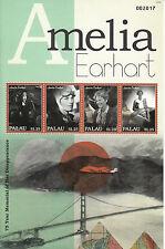 Palau 2012 MNH Amelia Earhart 75th Memorial Disappearance 4v M/S Aviation