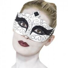 White and Black Swan Eye Mask Gothic Halloween Ladies Masquerade Fancy dress