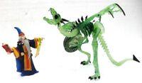 "Plastoy 60460 + 60226 ""Mago contro Drago scheletro translucido verde"""