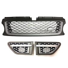 RANGE ROVER SPORT FRONT AUTOBIOGRAPHY STYLE GRILLE & VENTS KIT (2010-13) - GREY