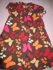 euc Gap Kids brown orange pink cord butterfly tunic dress girls M 8 free ship Us
